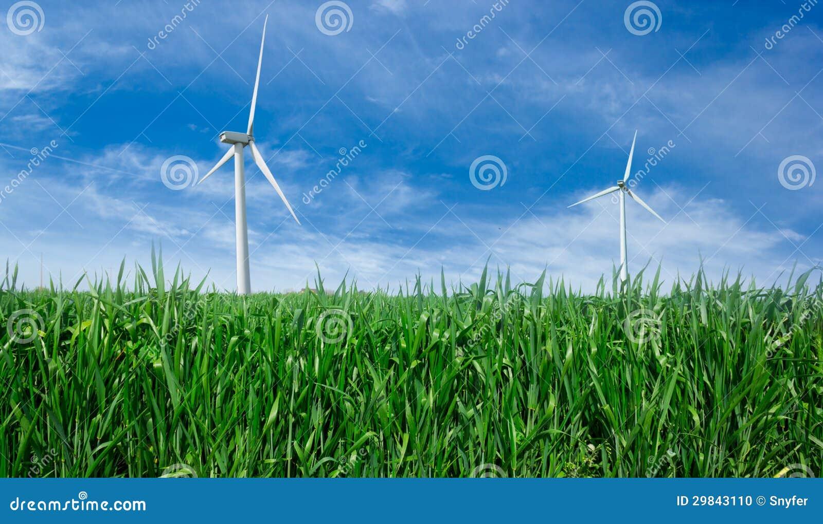 Gerador de poder do moinho de vento.