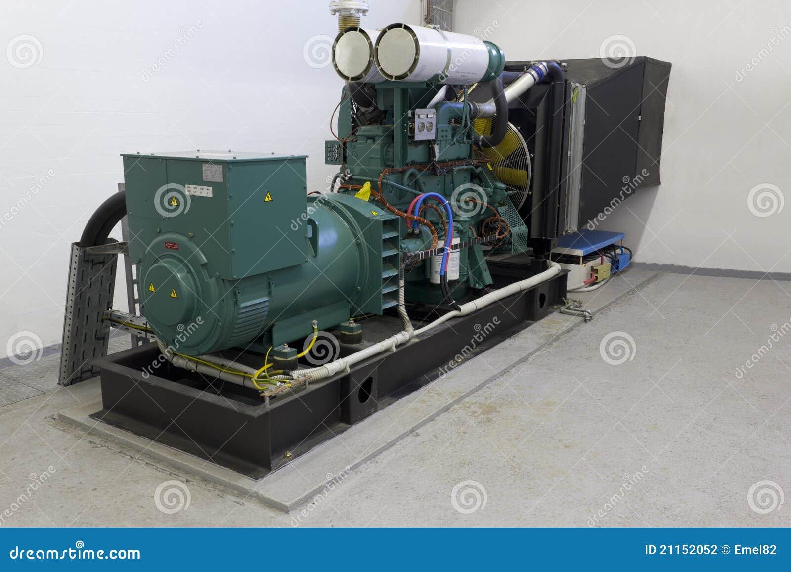 Gerador do diesel da emergência