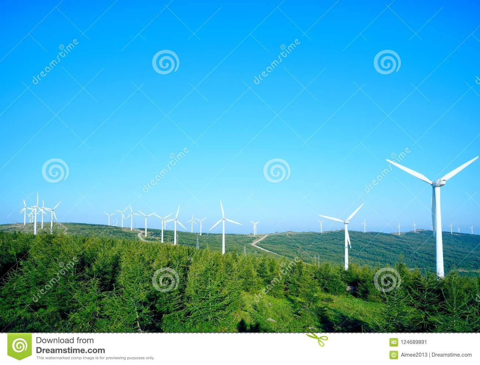 Geradores de vento em Zhangjiakou China