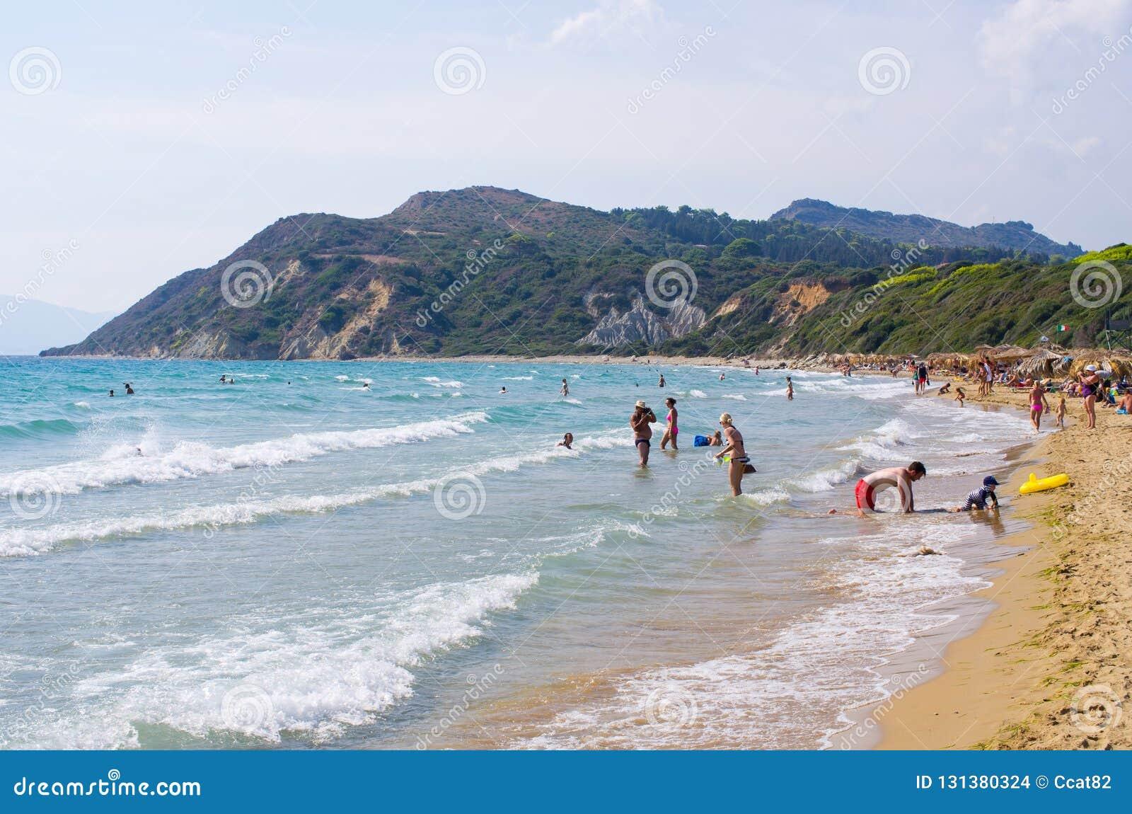 Gerakas plaża na Zakynthos wyspie