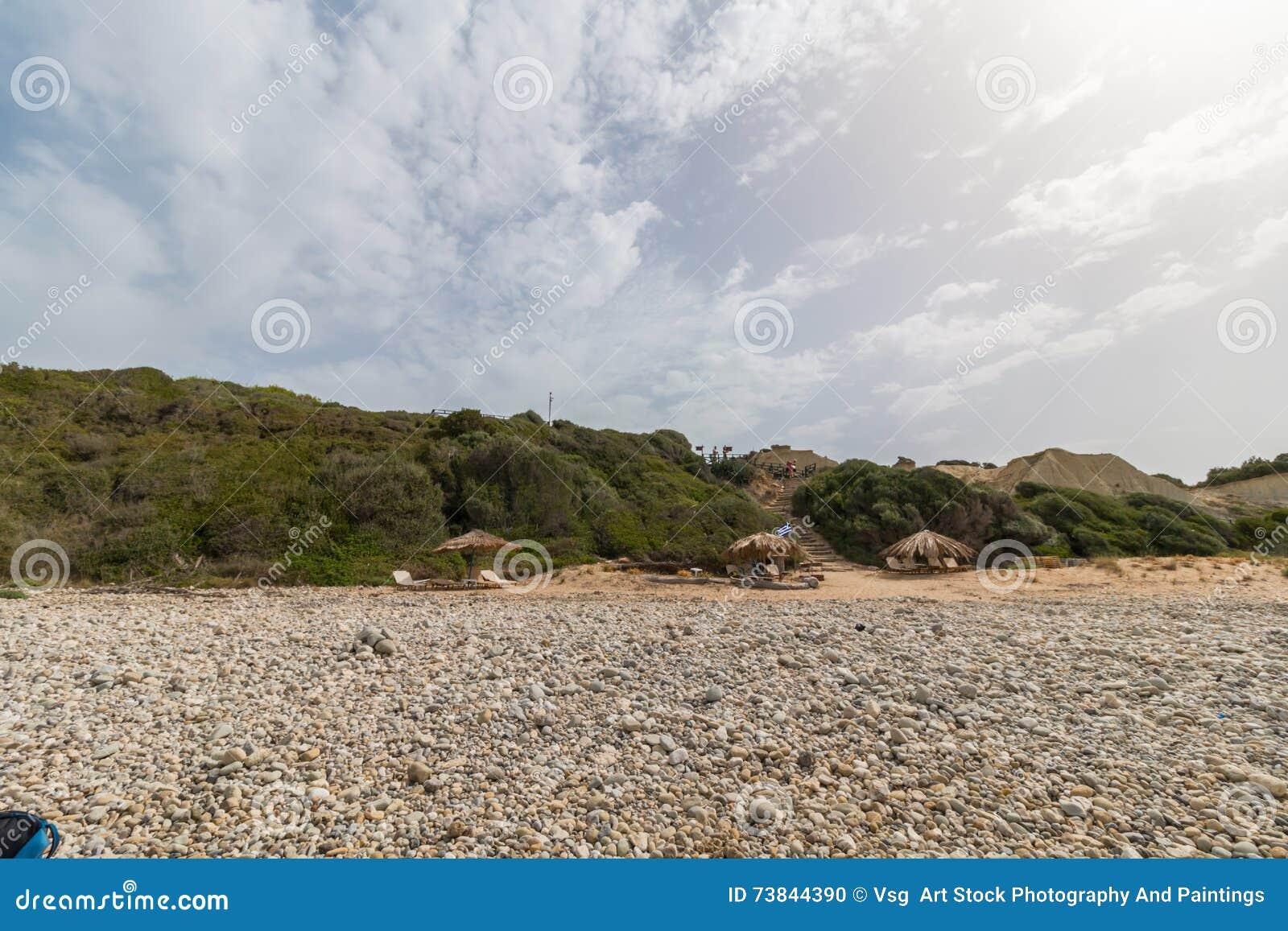 Gerakas Strand In Zakynthos Griechenland Stockfoto Bild Von