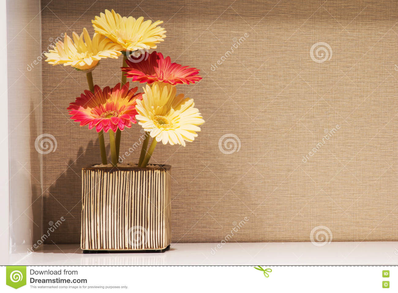 Gerbera Flower In Vase Stock Photo Image Of Flower Color 72594122