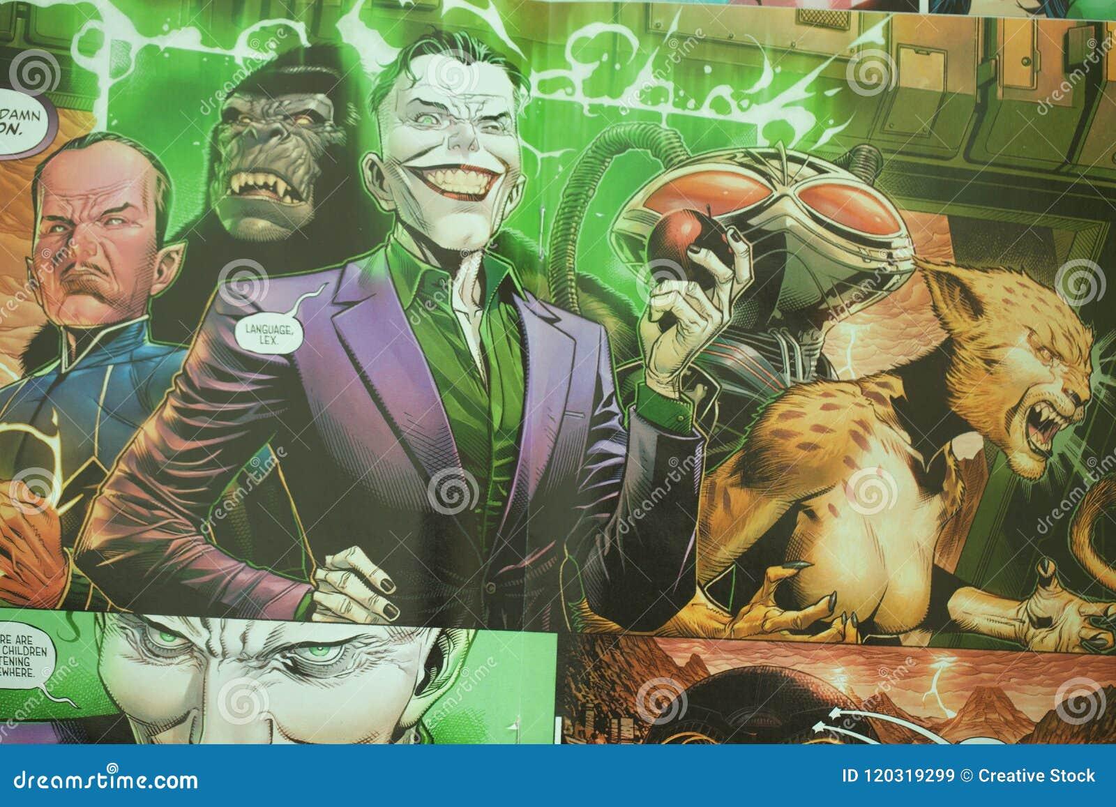 Gerechtigkeits-League-Superheldcomic-buch