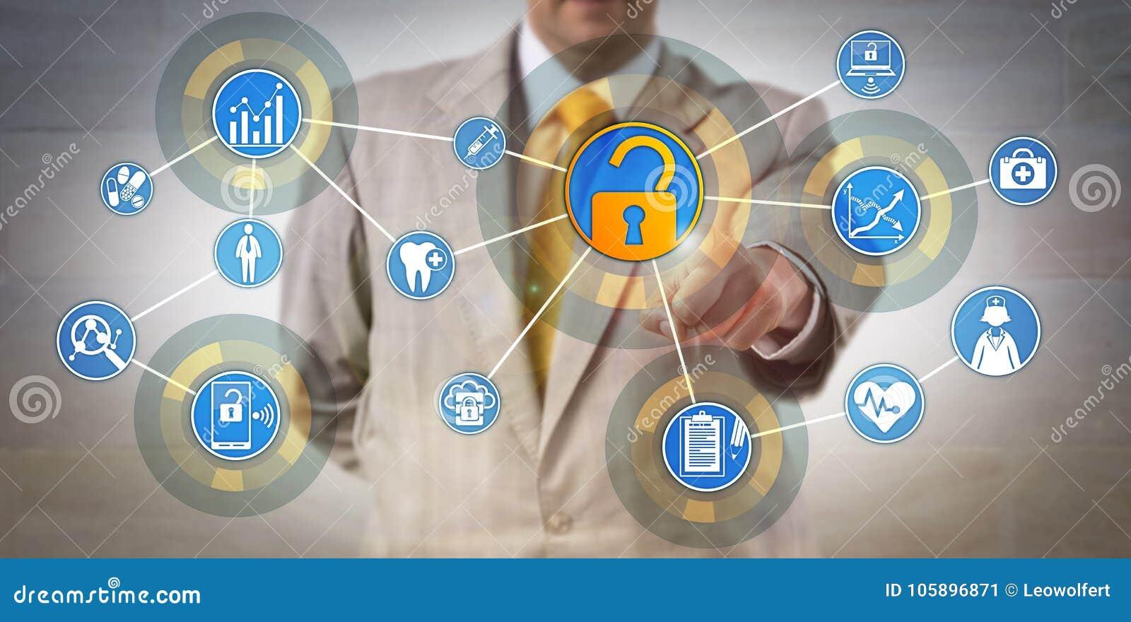 Gerente de informação Accessing Data Network da saúde