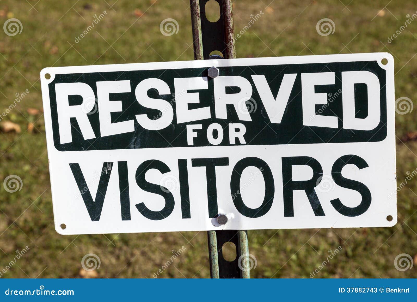 Gereserveerd voor bezoekers