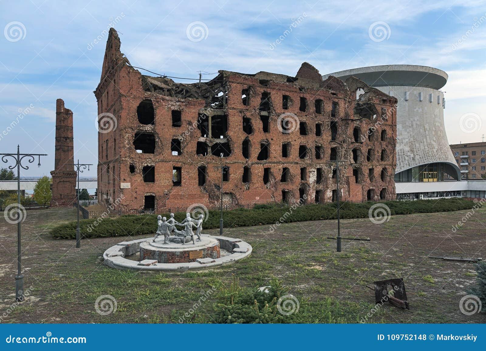 Ruined mill of Gergardt in Volgograd 98