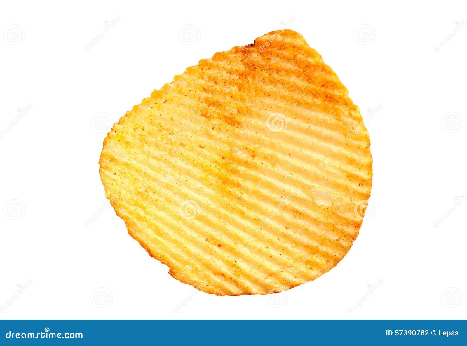 Geribbelde aardappelssnack