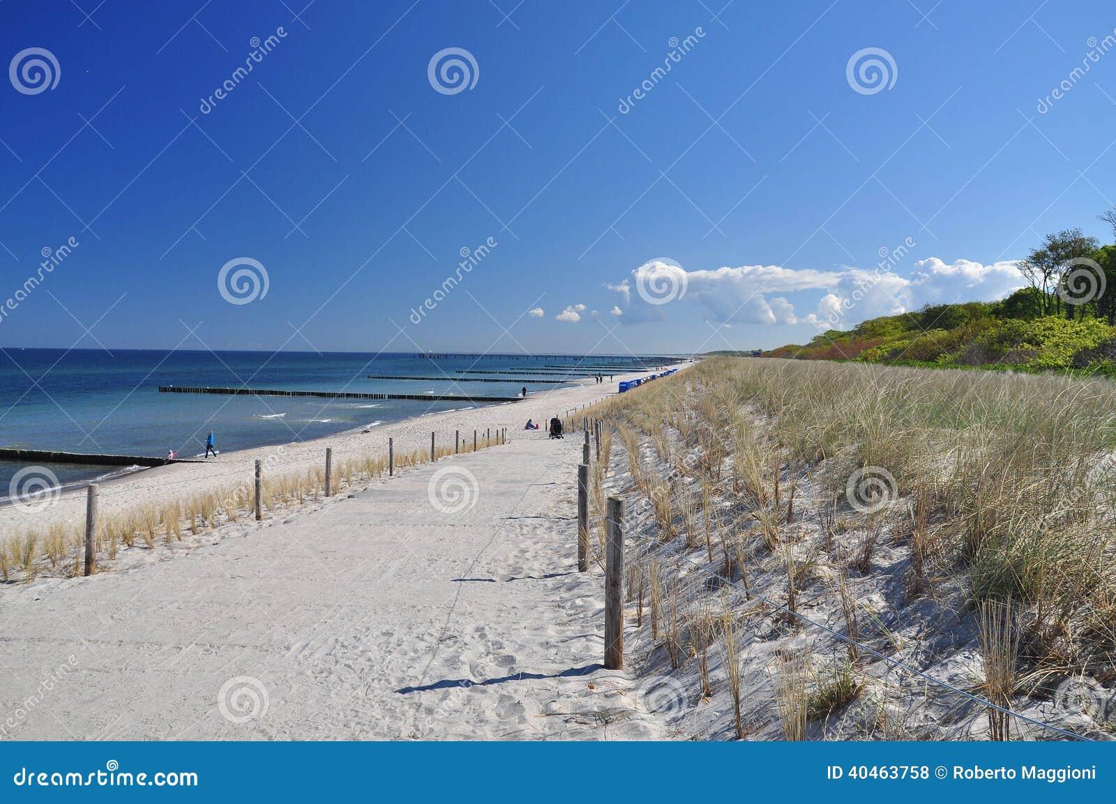German beach and blue sky, Fischland Darss, Baltic