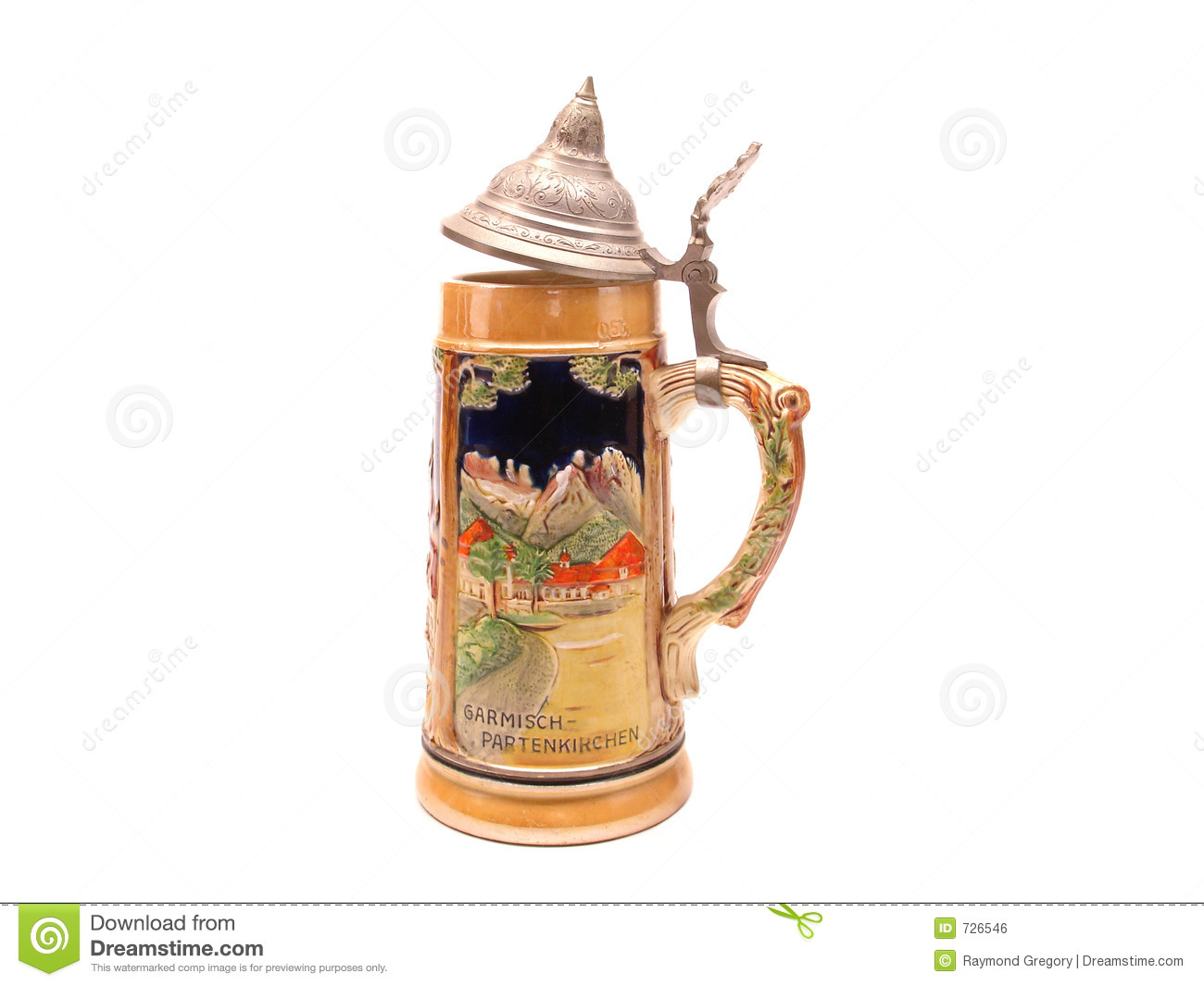 German Beer Stein. City Name at Bottom in Germany isloated on white ...