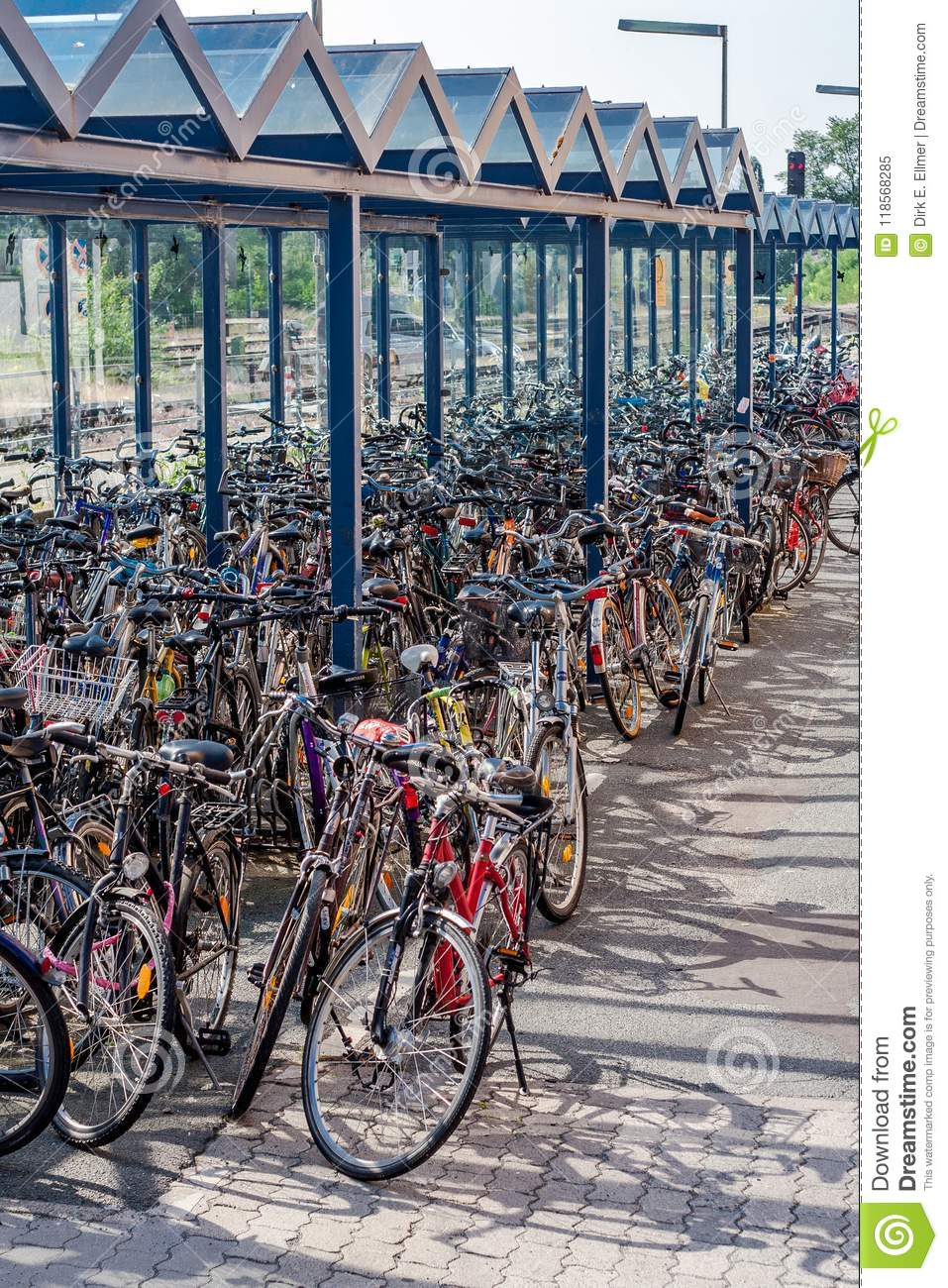 German Bicycle Station  Park And Ride Editorial Image