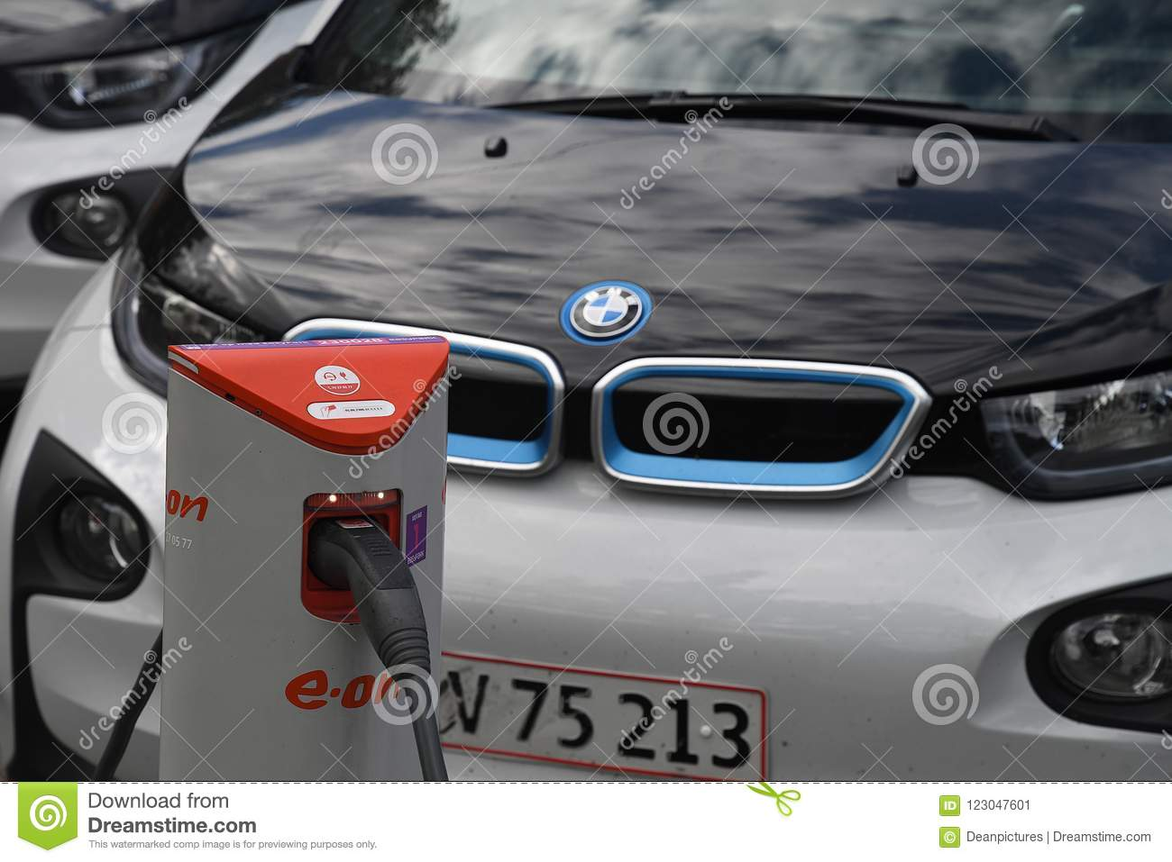 German Bmw Electric Autos In Denmark Editorial Photo Image Of Auto