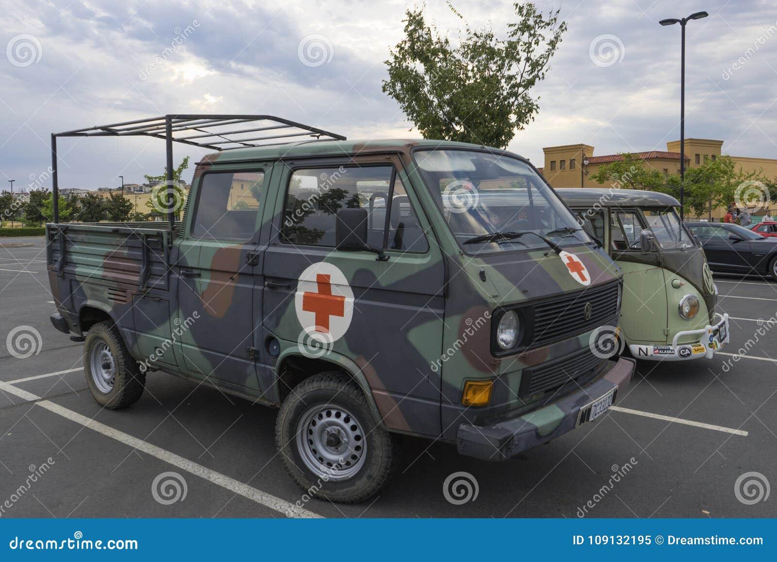 German Bundeswher Volkswagen Transporter T3 Ambulance