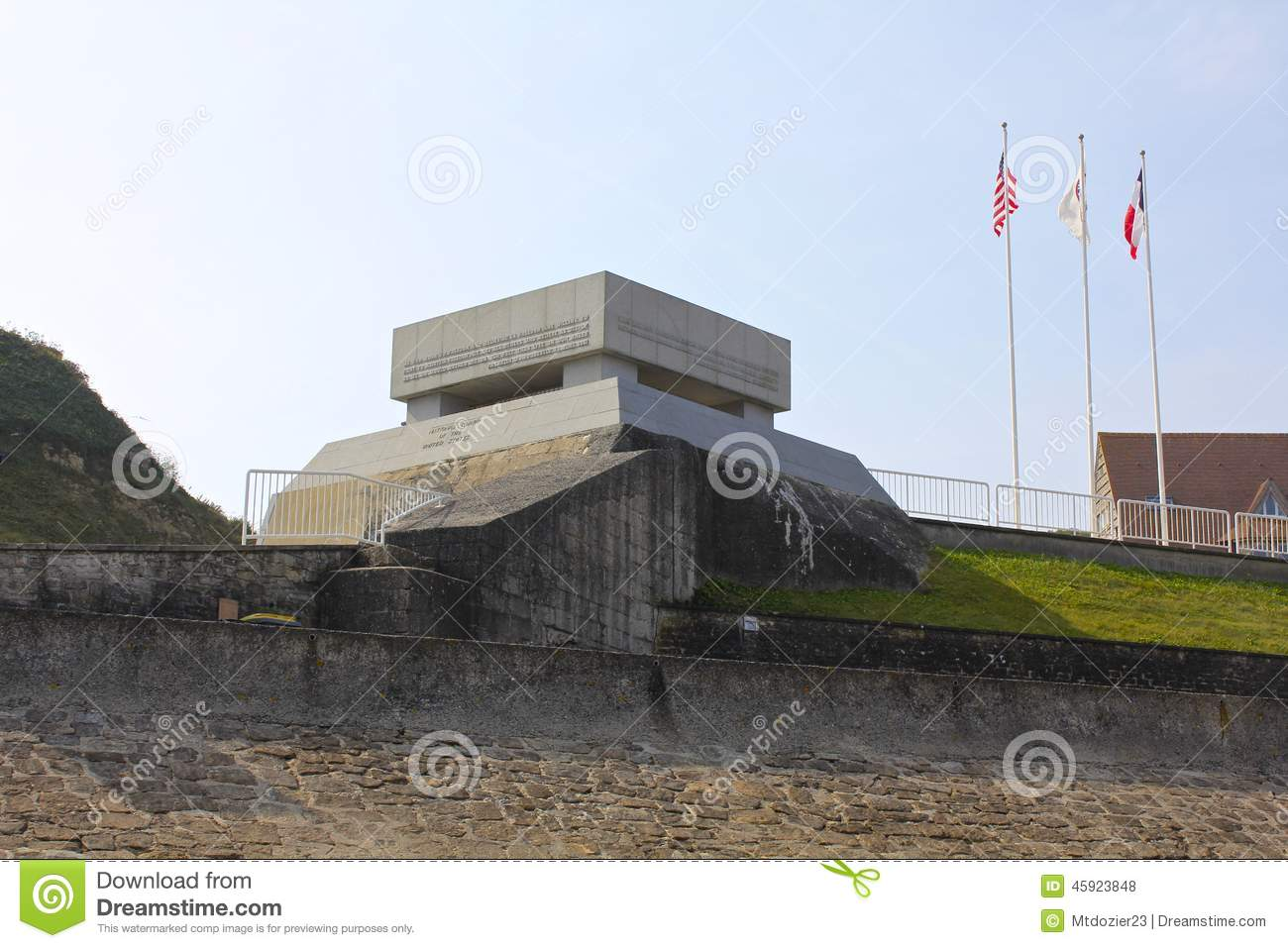 German Bunker Memorial Omaha Beach Stock Photo  Image