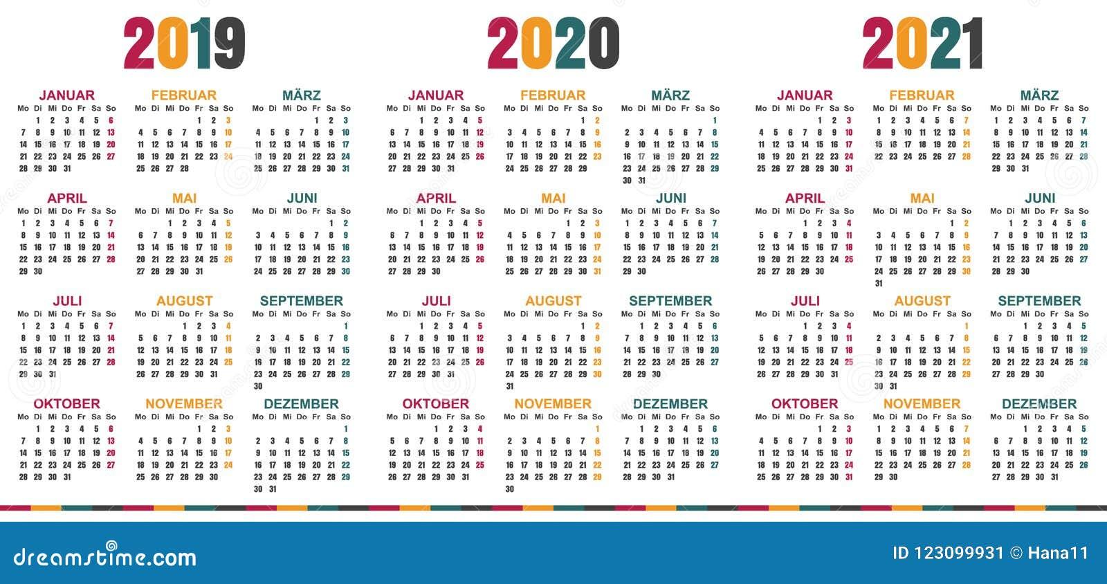 german calendar 2019 2021