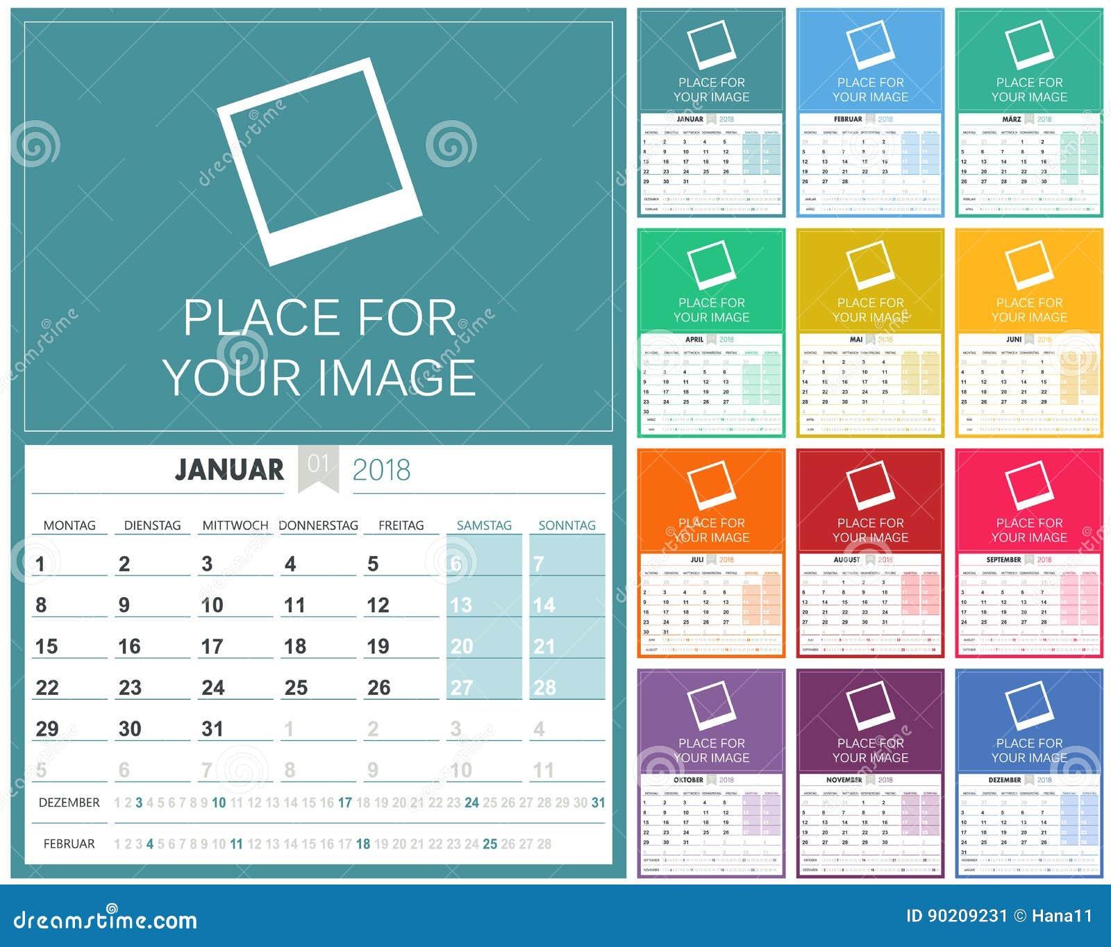 Calendar Illustration Template : German calendar stock vector illustration of graphic