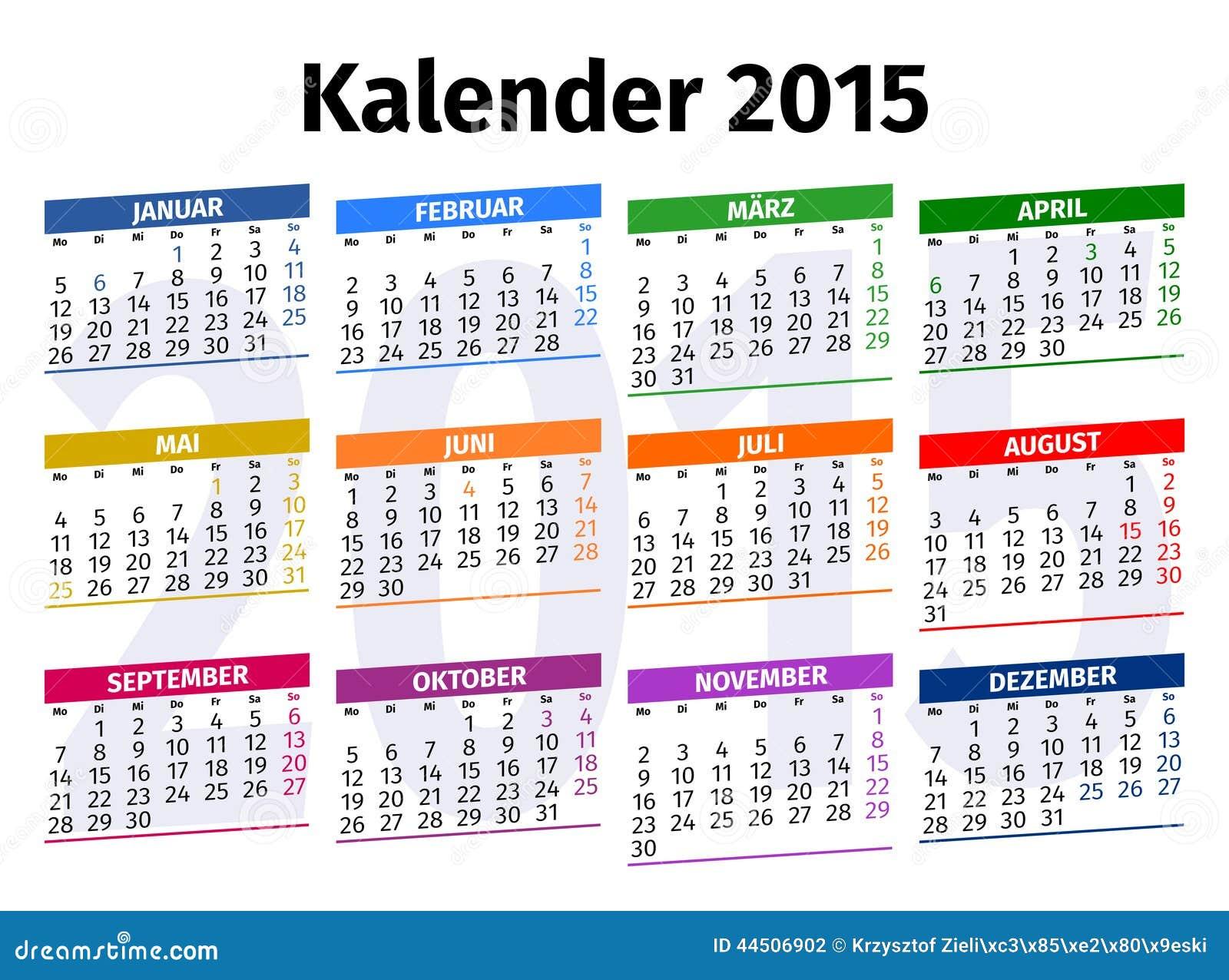 Year Calendar Germany : German calendar stock illustration image