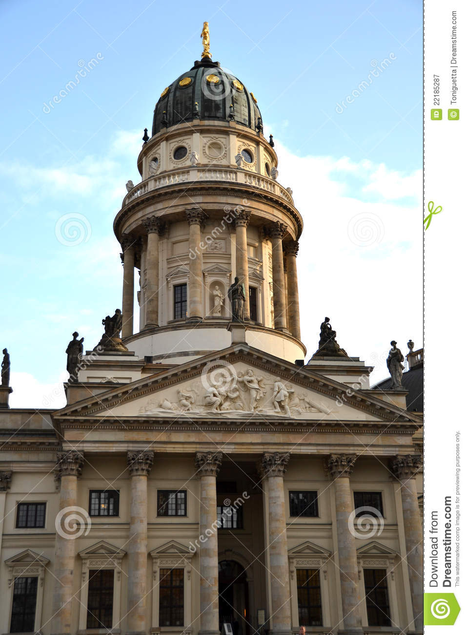the german cathedral in gendarmenmarkt berlin royalty free stock photography image 22185287. Black Bedroom Furniture Sets. Home Design Ideas