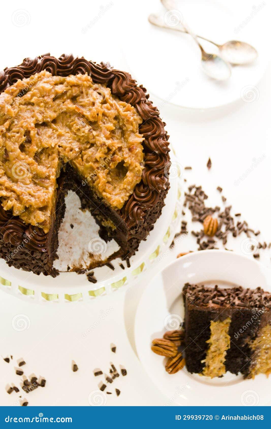 German Chocolate Cake Stock Photo - Image: 29939720