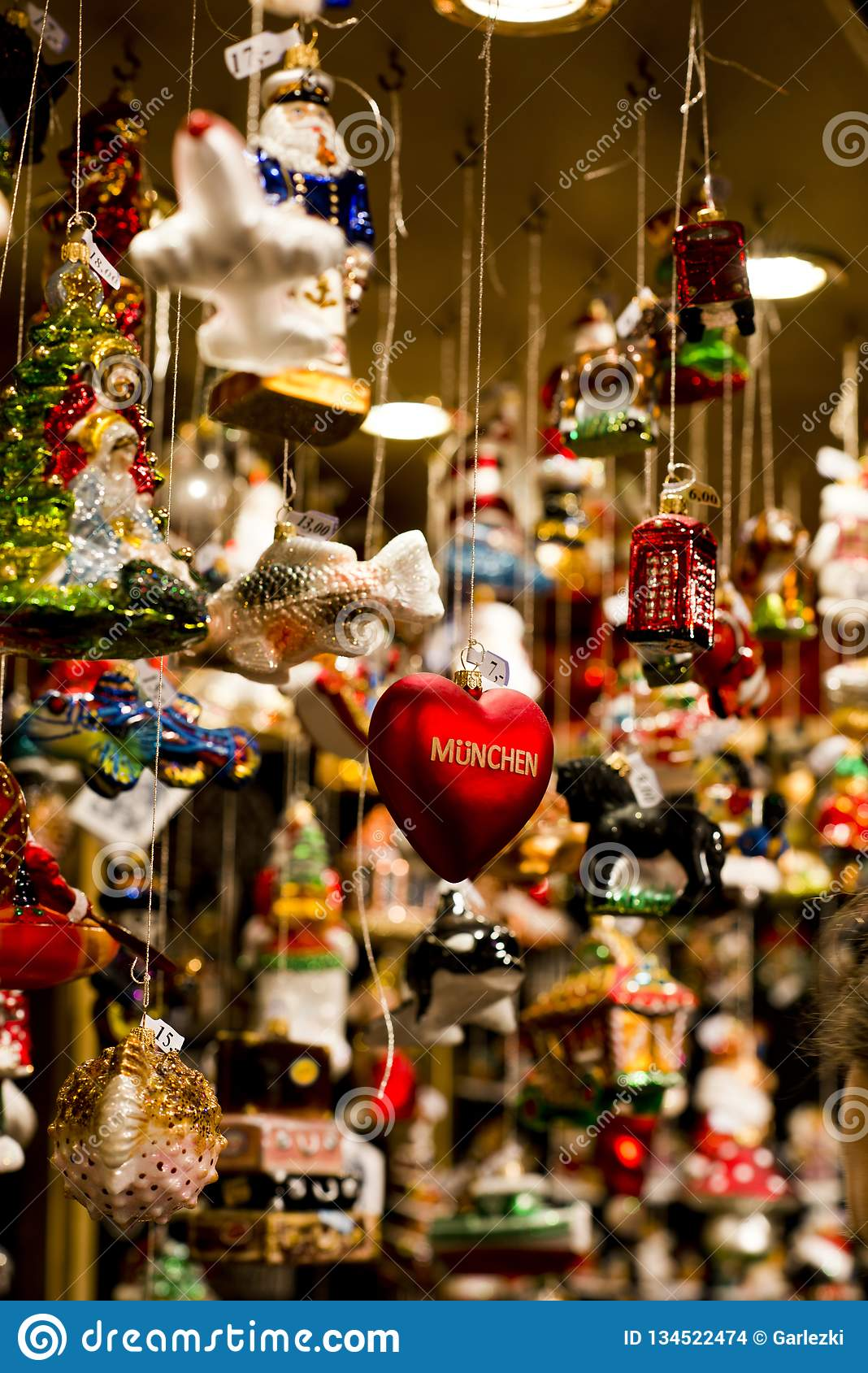 German Christmas Decorations Stock Photo Image Of Weihnachtsmarkt