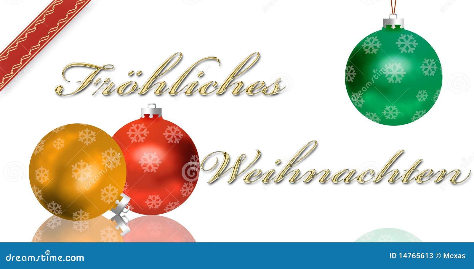 German Christmas Greeting Card Stock Illustration Illustration Of