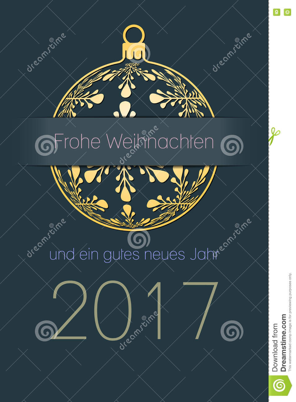 German Christmas And New Year 2017 Background Stock Vector