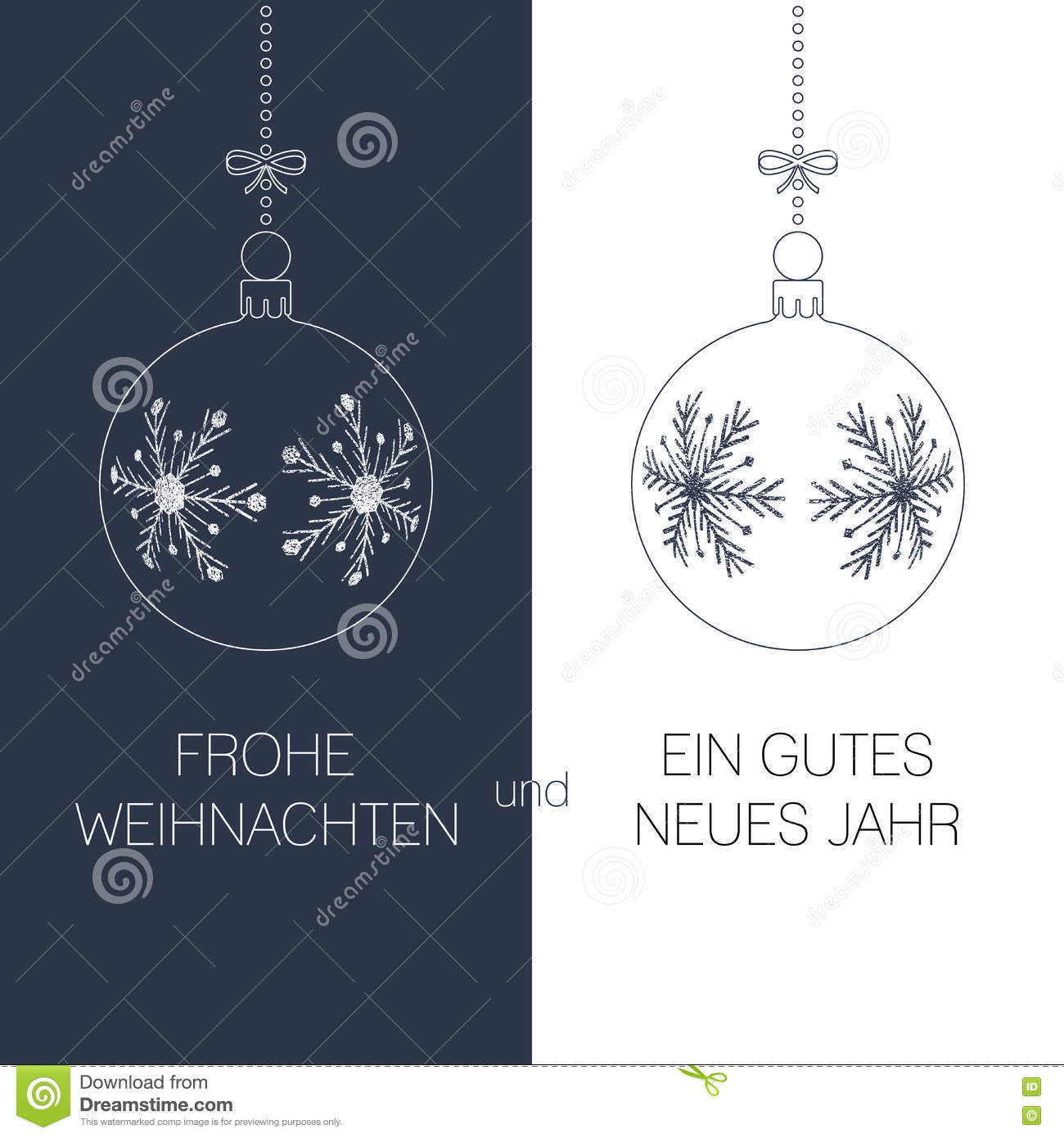 German christmas and new year greeting card stock vector download comp m4hsunfo