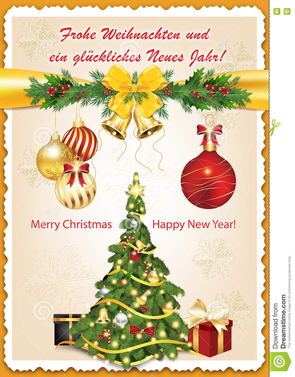 German Classic Greeting Card For Christmas And New Year ...