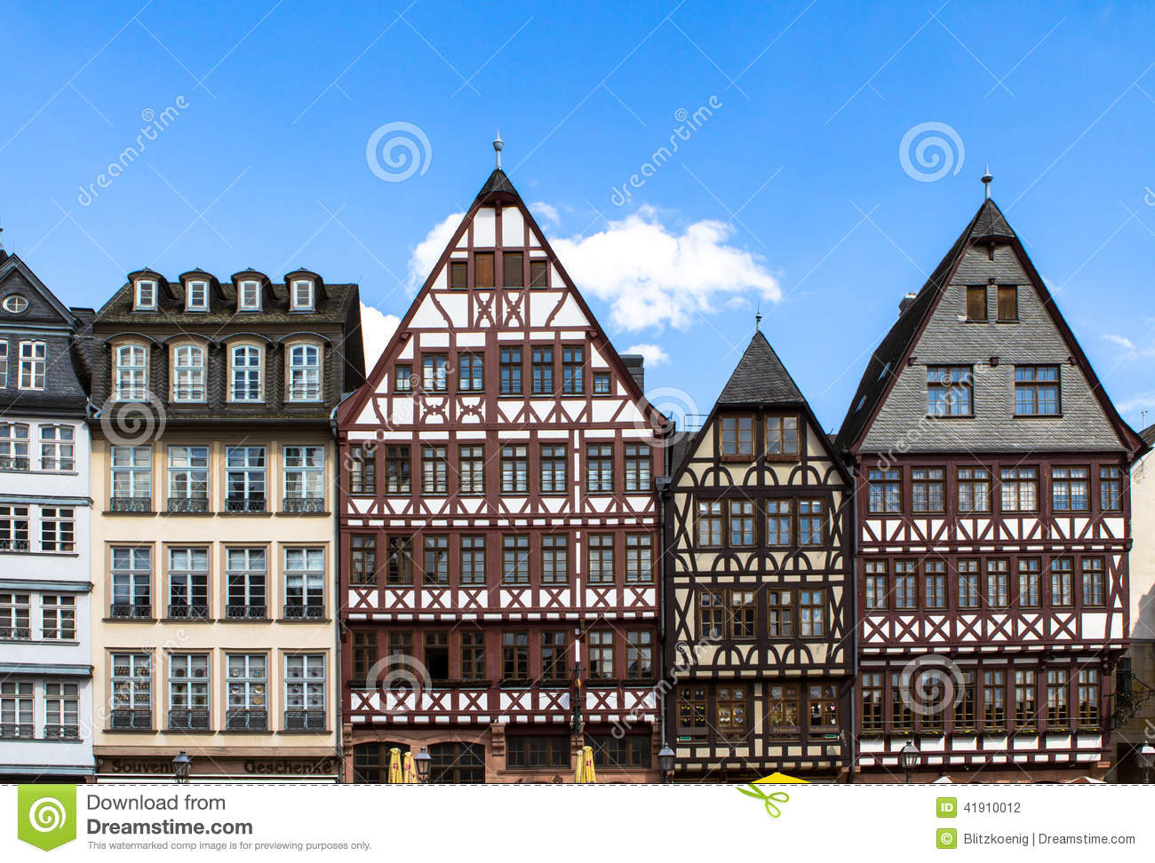 German Classical Architecture Stock Photo