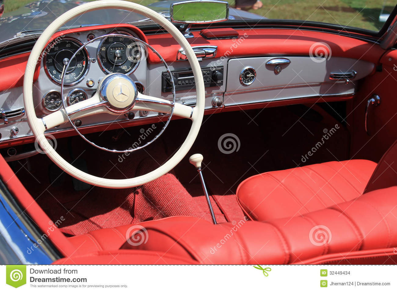 old sports car cockpit editorial photo 41430395. Black Bedroom Furniture Sets. Home Design Ideas