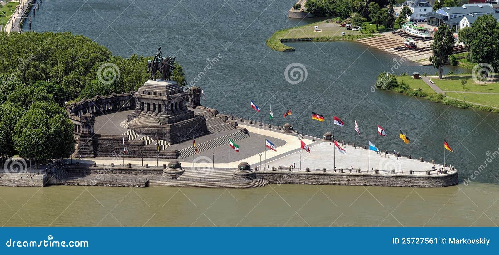 German Corner (Deutsches Eck) in Koblenz, Germany