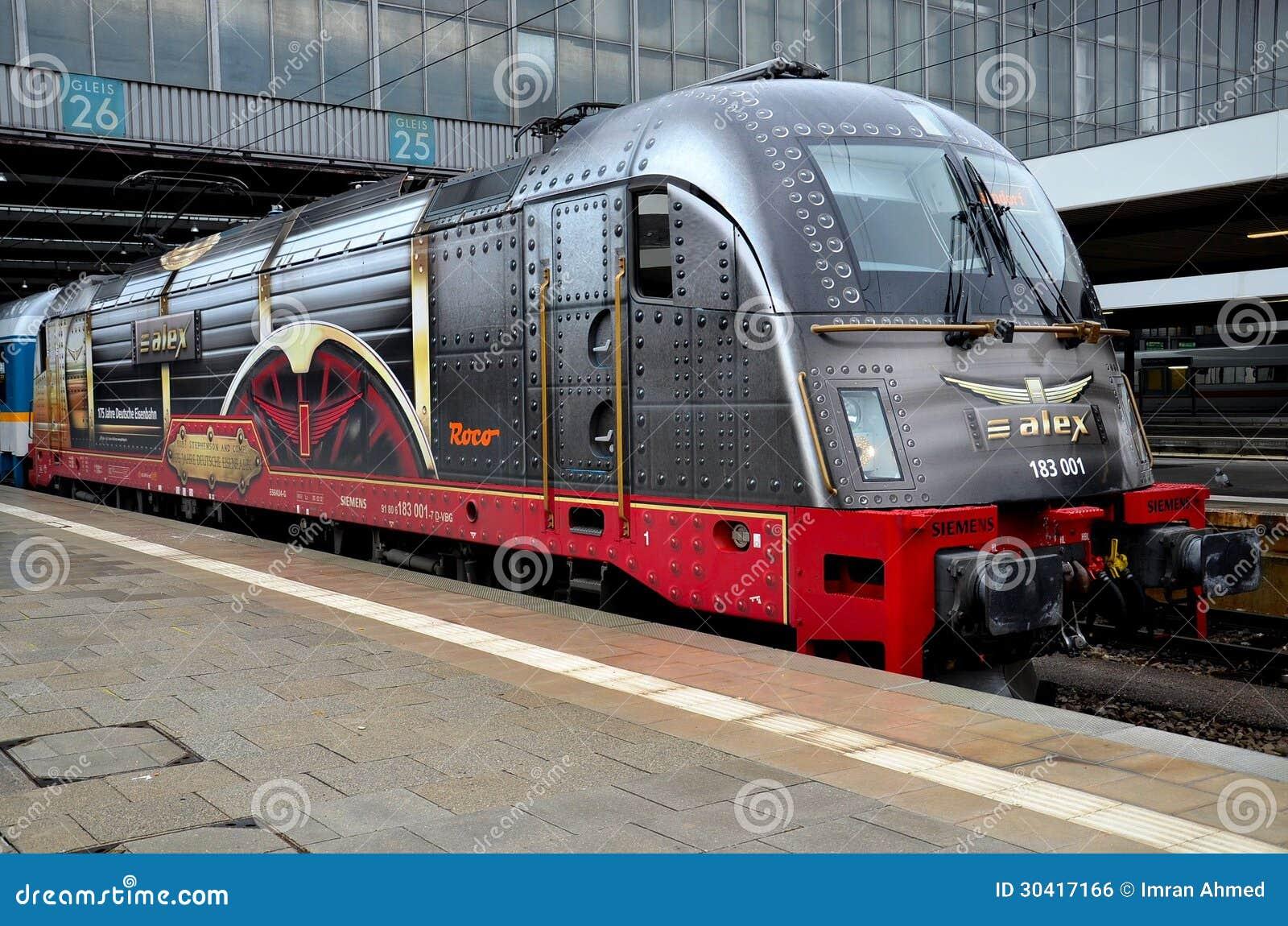 German Electric Train Locomotive Engine Munich Germany