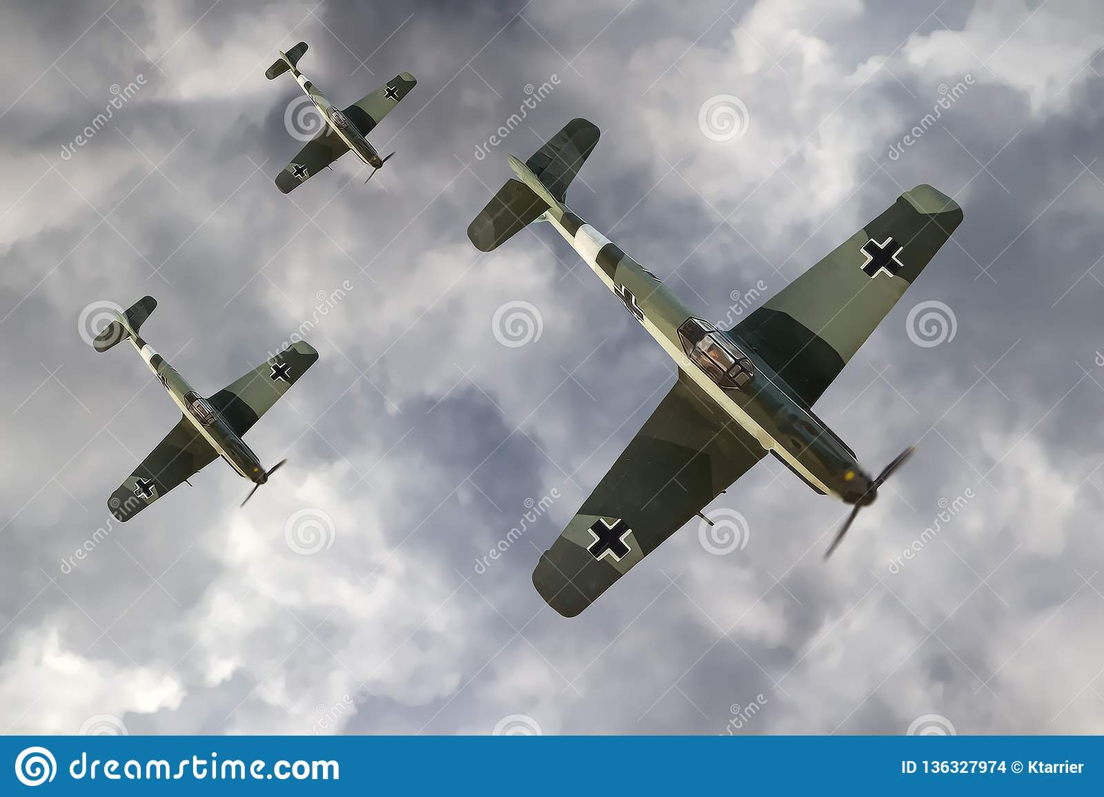 German Fighter Plane Of WW2 Stock Illustration