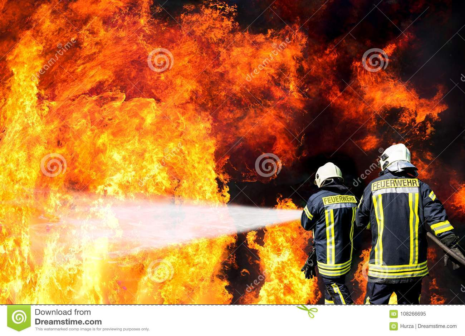 German firefighters