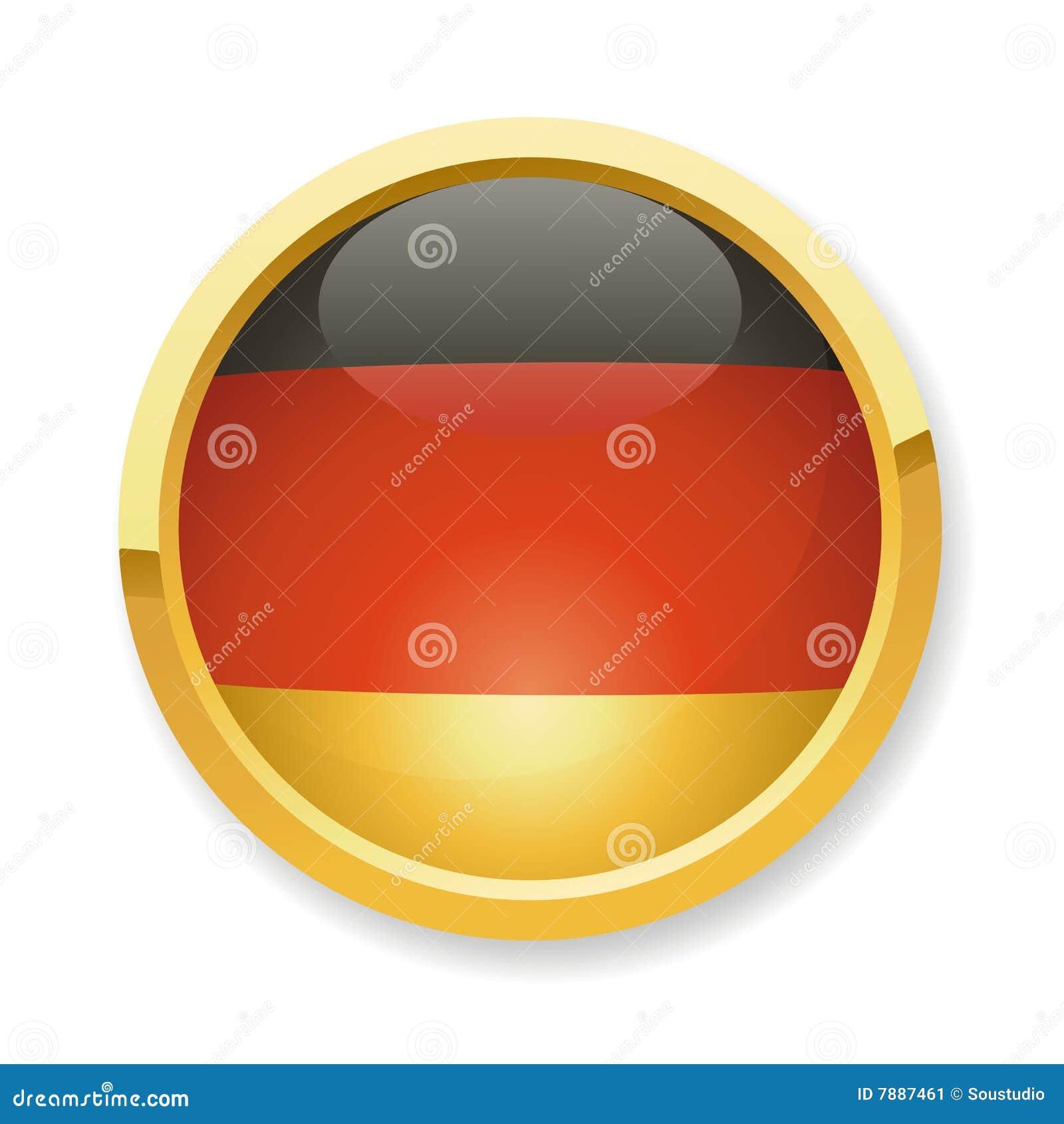 german flag button royalty free stock photos image 7315028