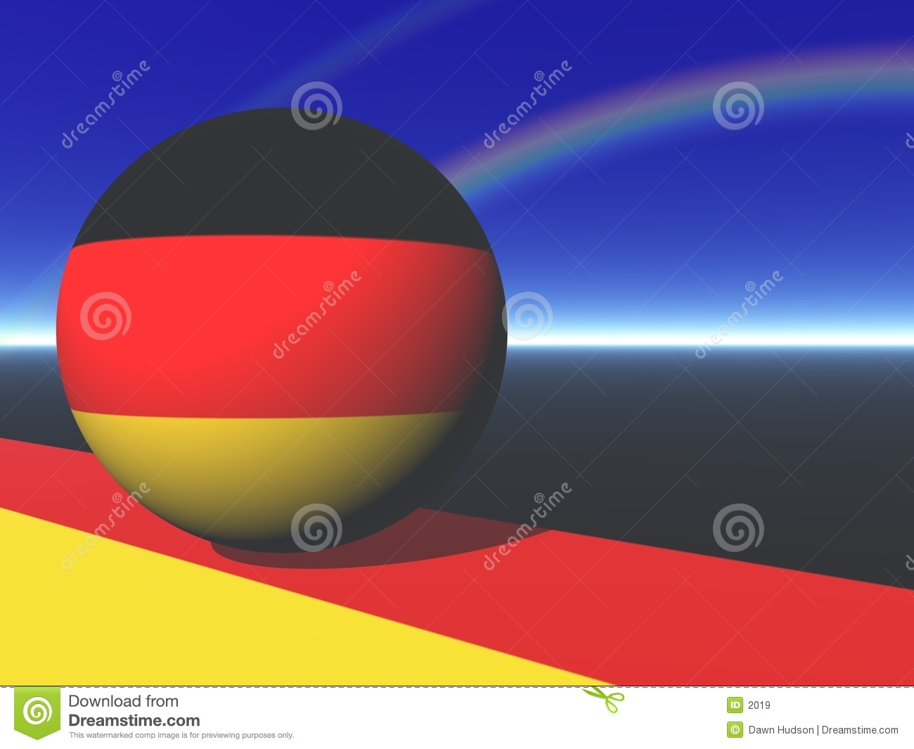 German Flag Globe