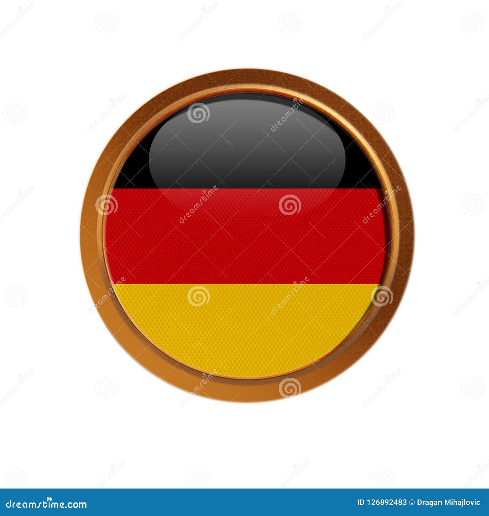 German flag in the golden frame