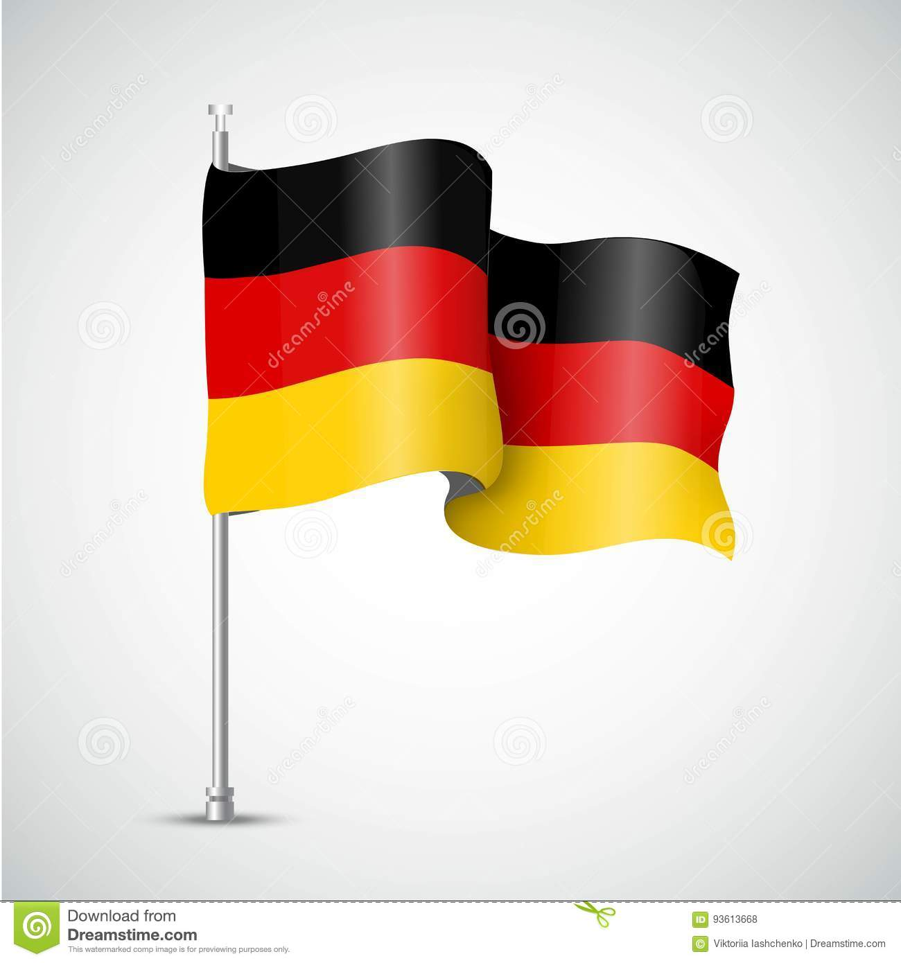 German flag of the Great Britain. Vector illustration