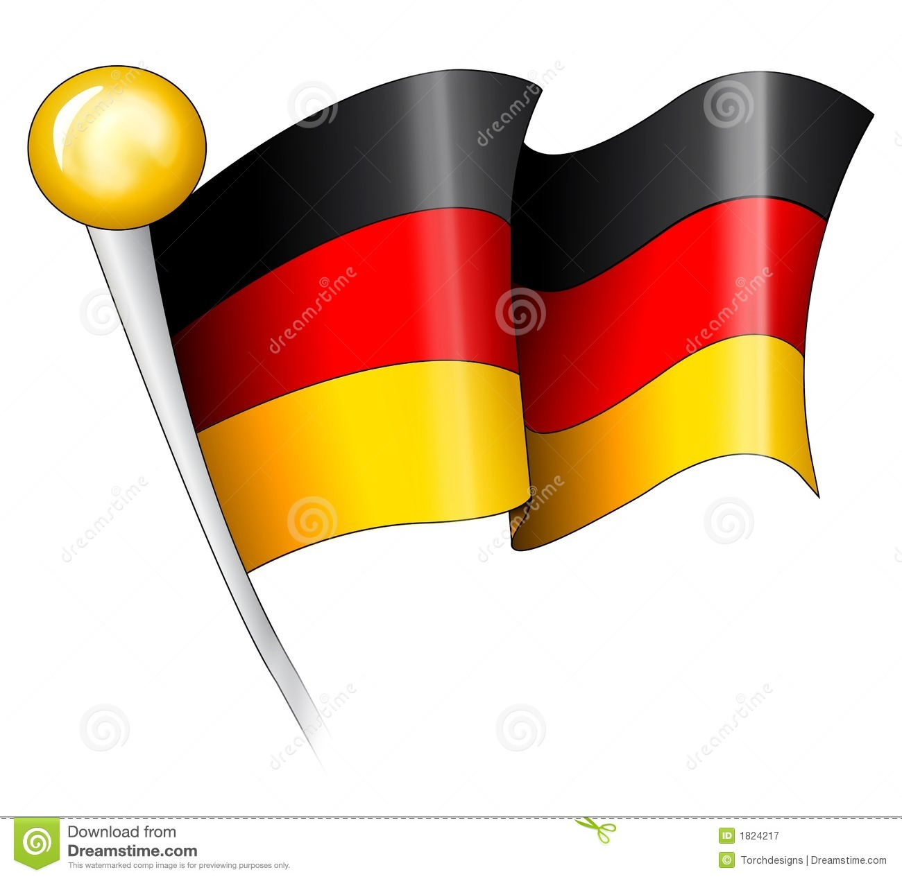 German Flag Illustration