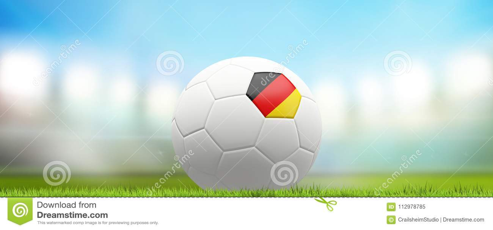 German Germany soccer football ball 3d rendering
