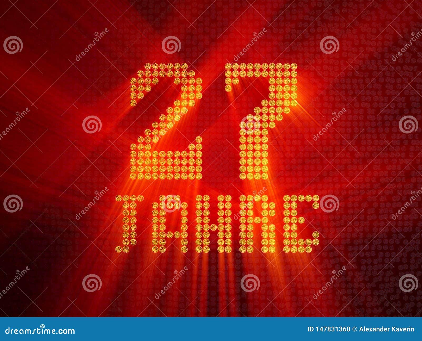 German golden number twenty-seven years. 3D render