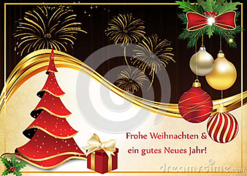 German greeting card for christmas and new year stock photo image greeting card for christmas and new year containing wishes in german language frohe weihnachten und ein gutes neues jahr merry christmas and a happy new m4hsunfo