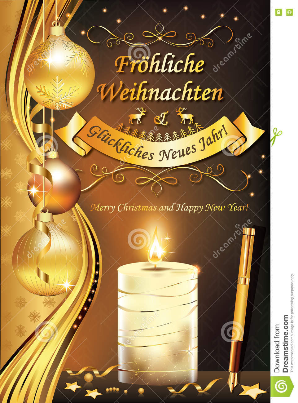 German greeting card merry christmas and happy new year stock download german greeting card merry christmas and happy new year stock photo image m4hsunfo
