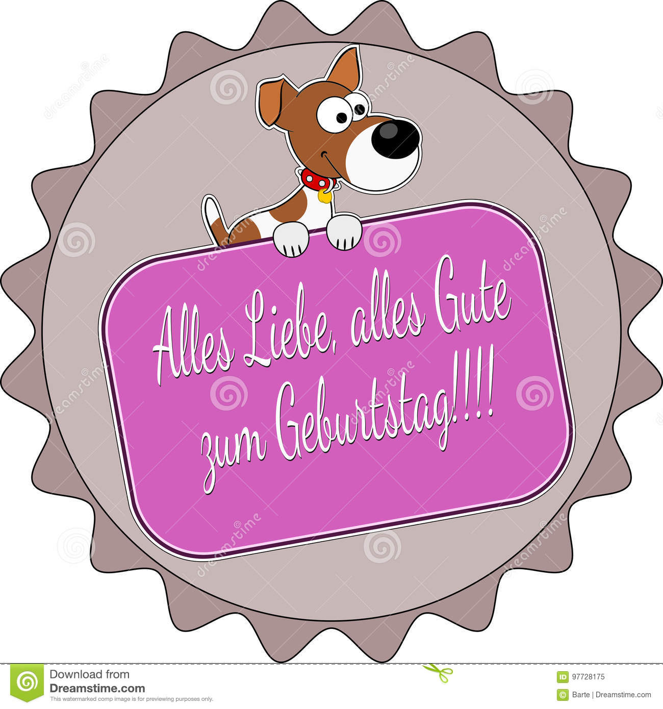 german happy birthday stock vector illustration of design 97728175