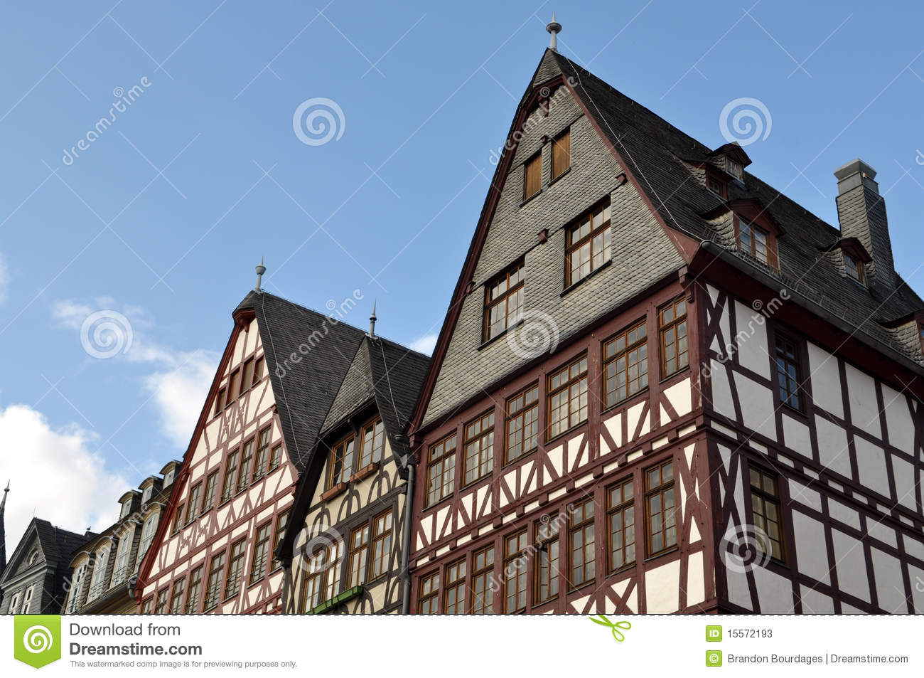 German homes with blue sky stock photos image 15572193 for German house builders