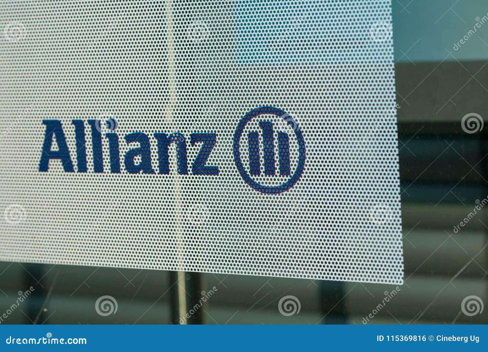 German Insurance Group Allianz Sign Editorial Photo ...