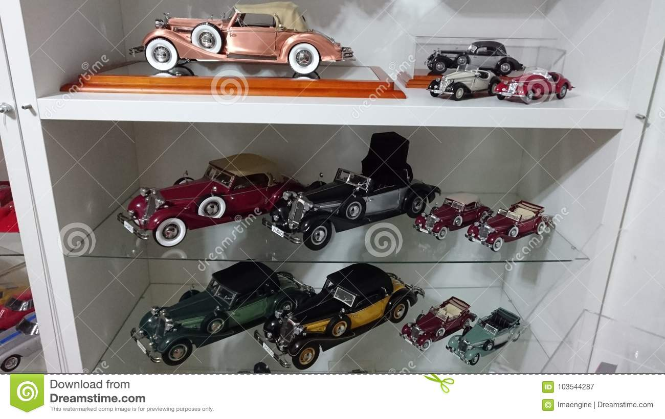 Horch 853 Model Cars On Display Editorial Photography
