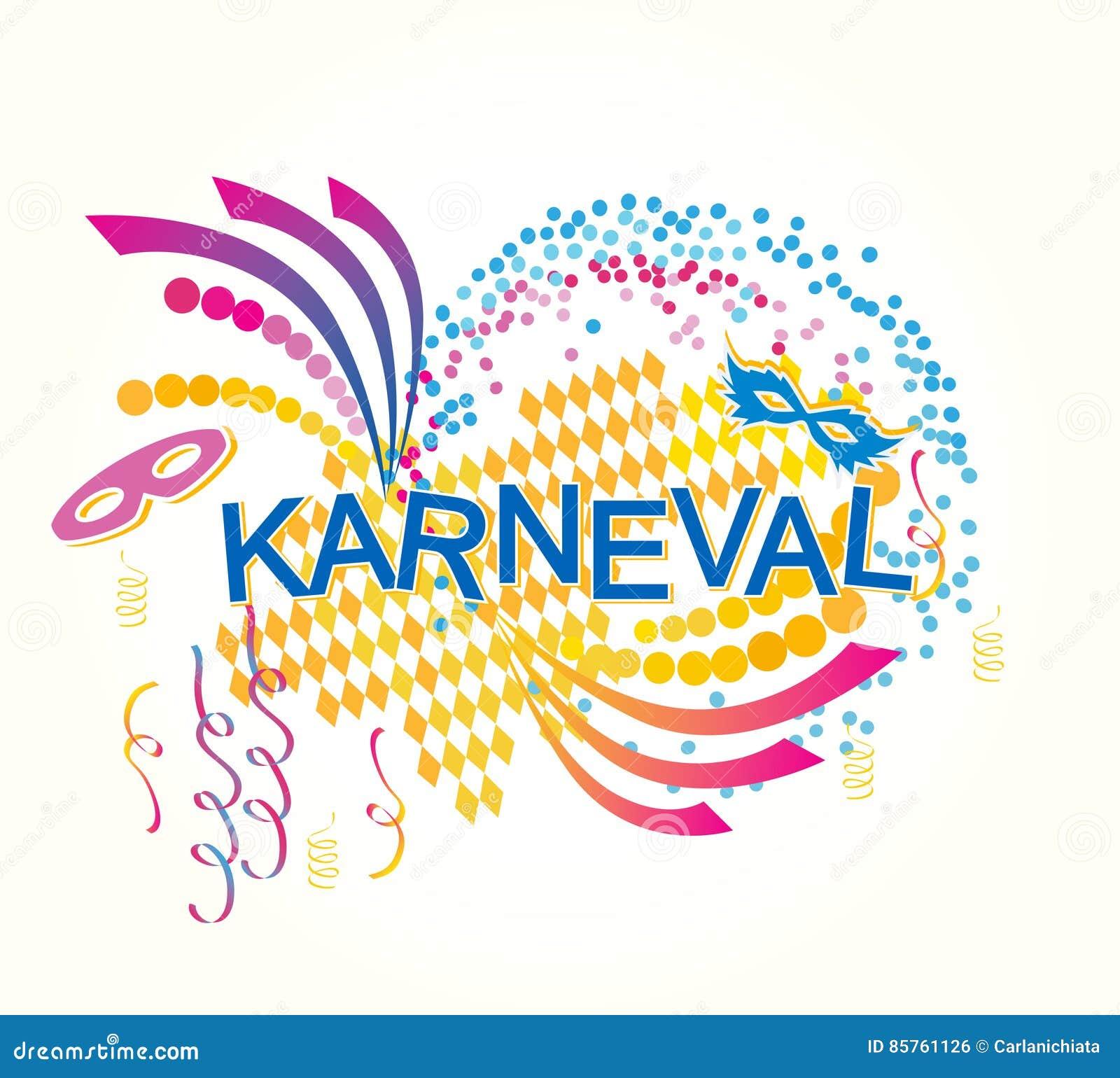 German Karneval Stock Vector Illustration Of Background 85761126