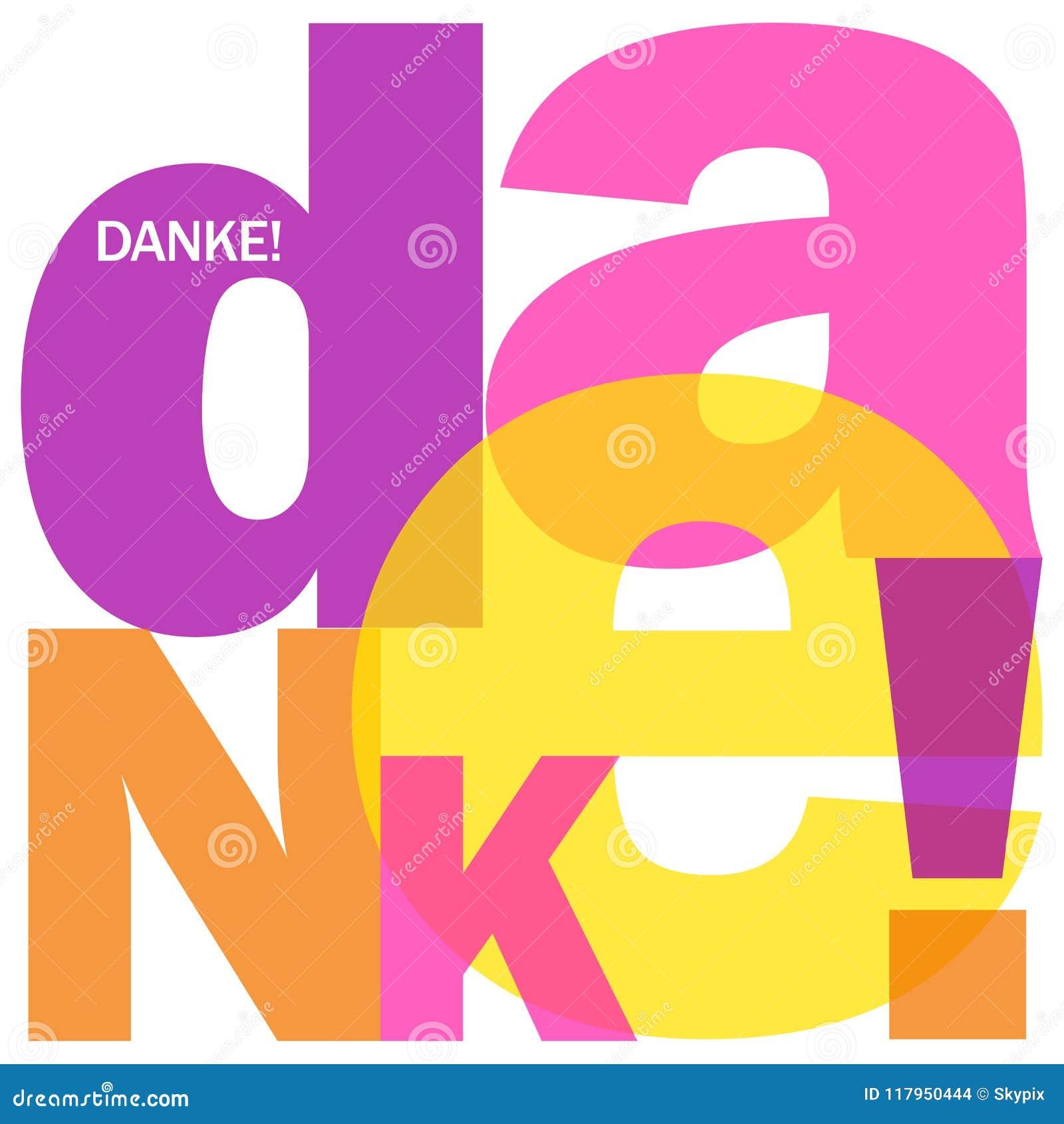 German language danke letters collage stock illustration download comp m4hsunfo