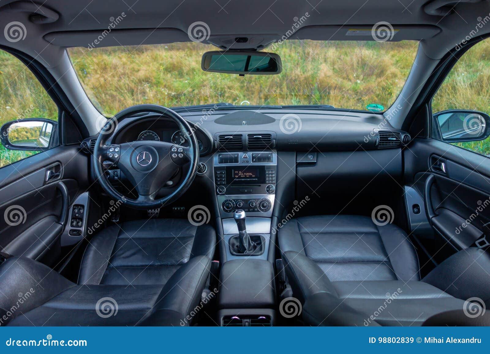 German Luxurious Limousine Interior Sedan Leather Seats Editorial
