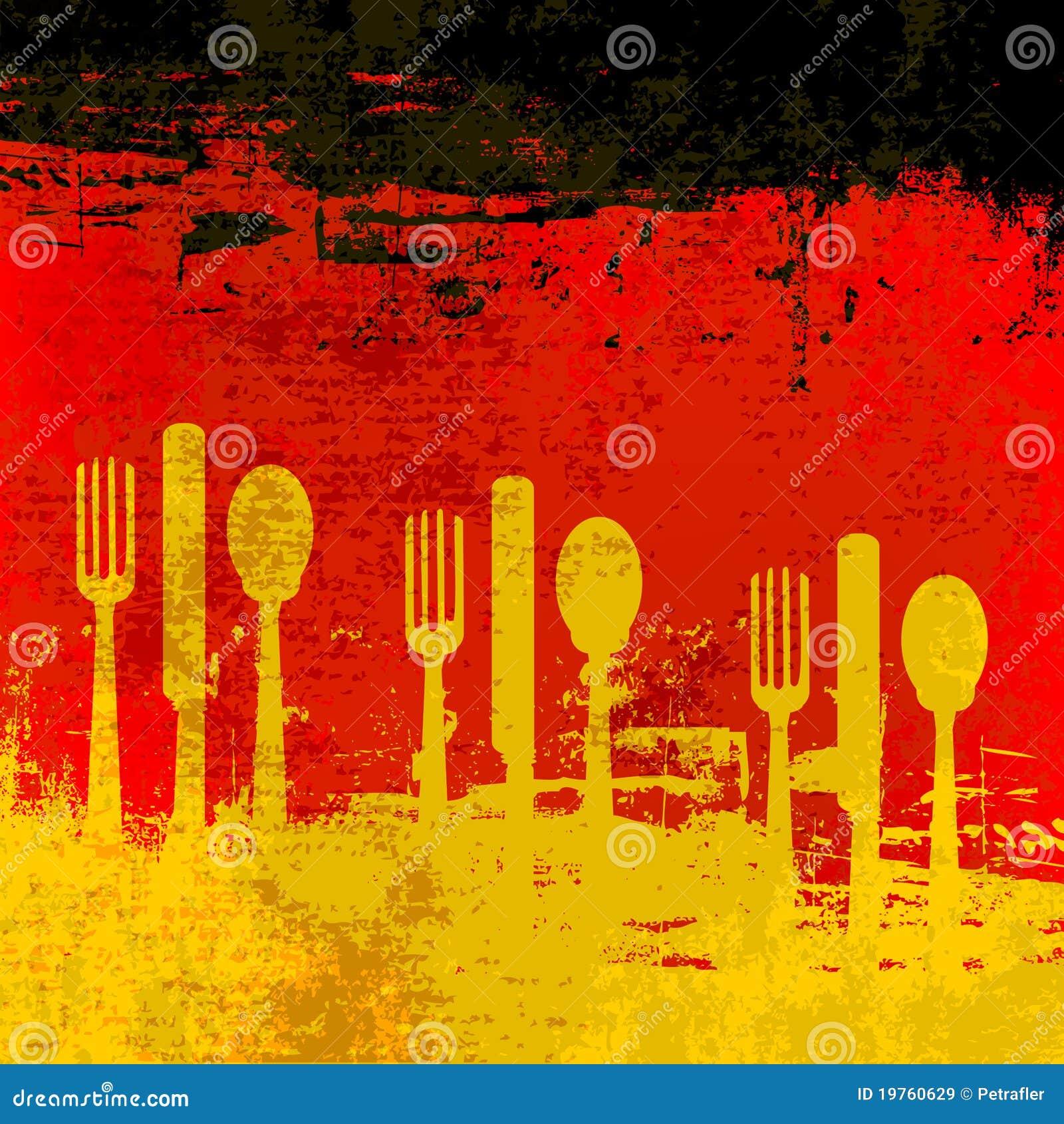 German Menu Template Royalty Free Stock Images - Image ...